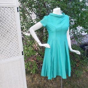 60s Light turqoise Mod Petiteen Pleated Dress